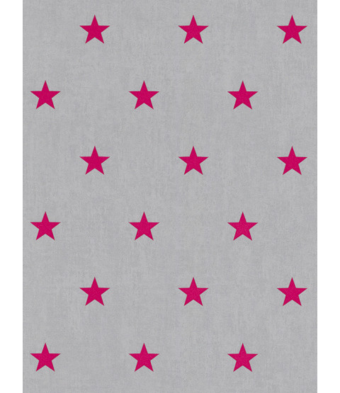 Rasch Star Wallpaper - Pink and Grey 247619