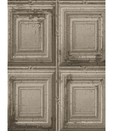 Rasch Distressed Wood Panels Wallpaper - Grey 932607