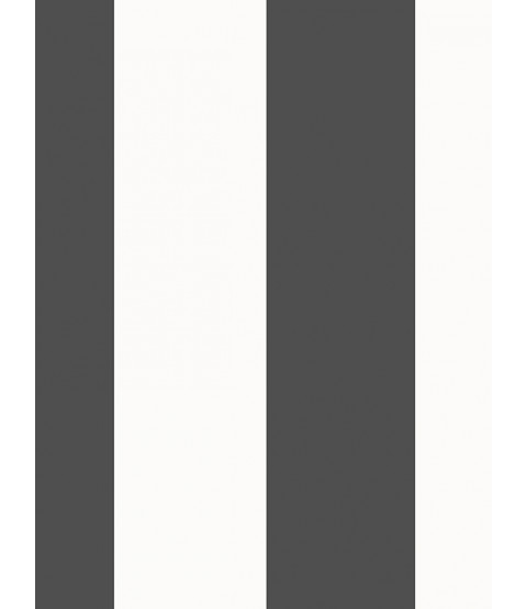 Stripe Wallpaper Black and White Rasch 286694