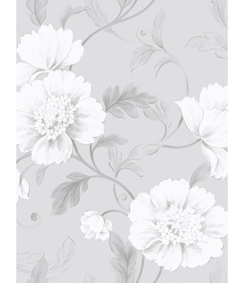 Grey Boutique Floral Wallpaper Rasch 226188