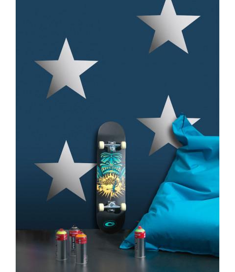 Carta da parati Metallic Stars Navy / Silver Rasch 248173