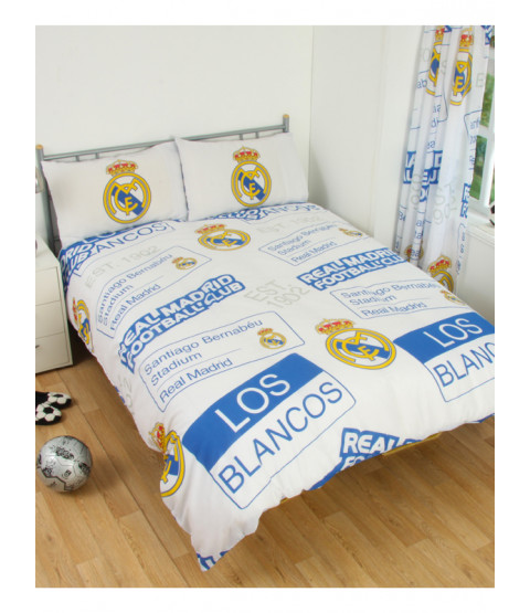 Real Madrid CF Patch Double Duvet Cover and Pillowcase Set