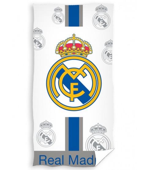 Toalla de playa blanca Real Madrid CF