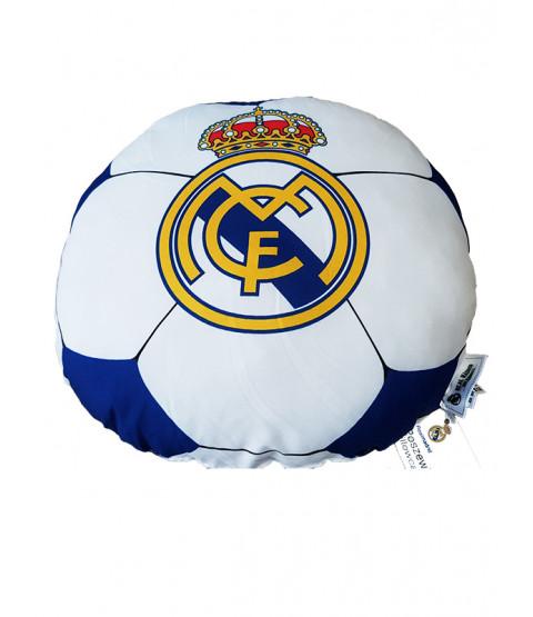 Real Madrid CF Football Shaped Filled Cushion