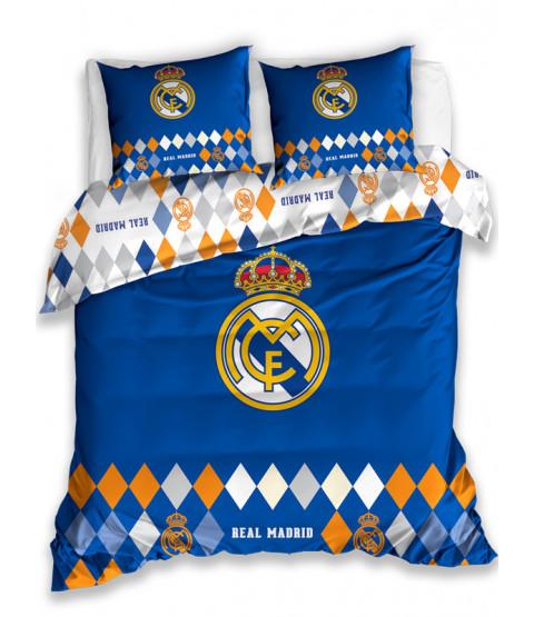 Real Madrid CF Diamond Double Cotton Duvet Cover Set