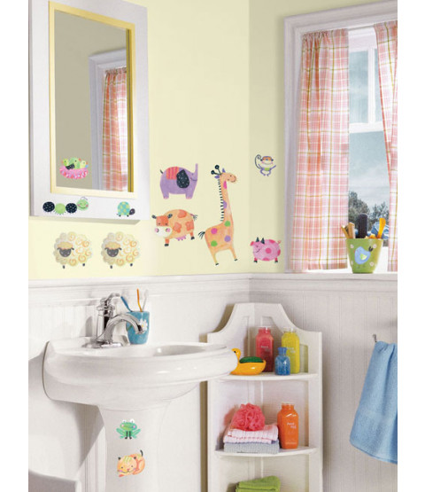 Room Mates Polka Dot Piggy Wall Stickers