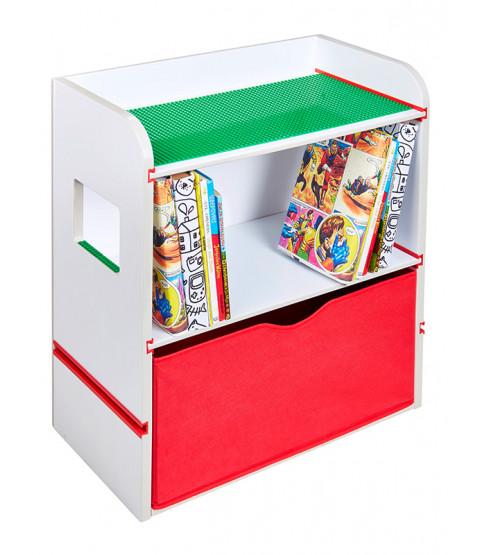 Unidad de almacenamiento de estantería de cabecera de la habitación 2