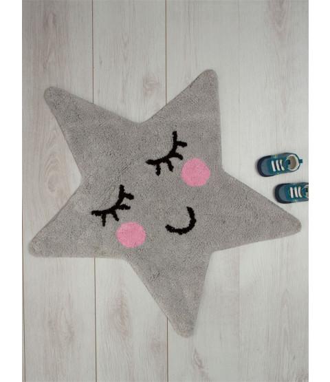 Tapis gris étoile