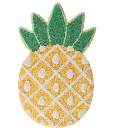 Tropical Pineapple Shaped Floor Rug