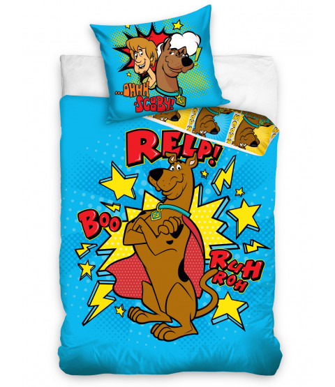 Juego de funda nórdica individual Scooby Doo Blue - Tamaño europeo