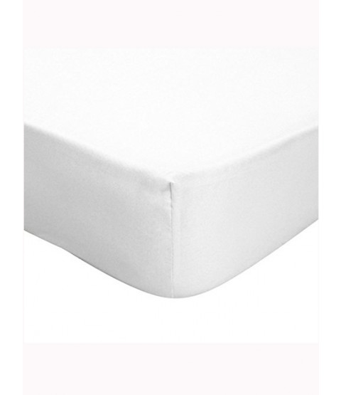 Single Fitted Bed Sheet - White - Victoria London