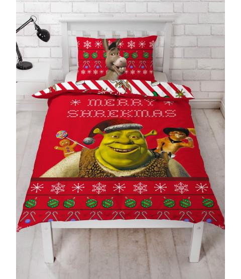 Shrek Merry Juego de funda nórdica y funda de almohada individual