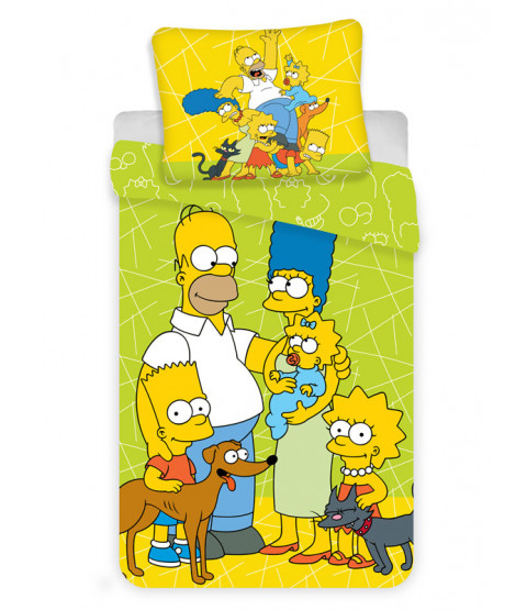 Set copripiumino singolo Family Simpsons