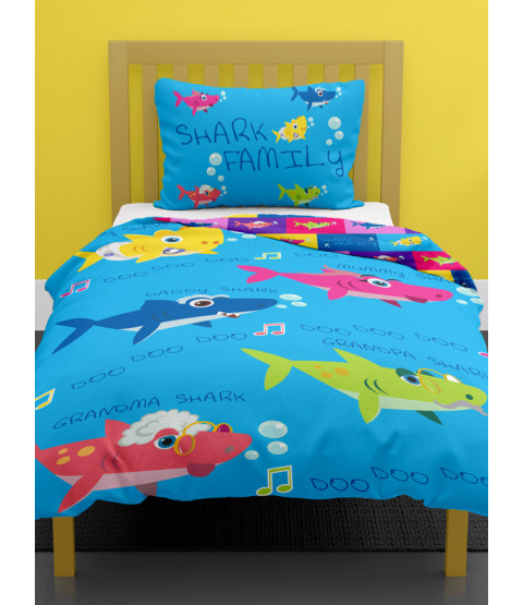 Shark Family Junior Duvet Cover and Pillowcase Set