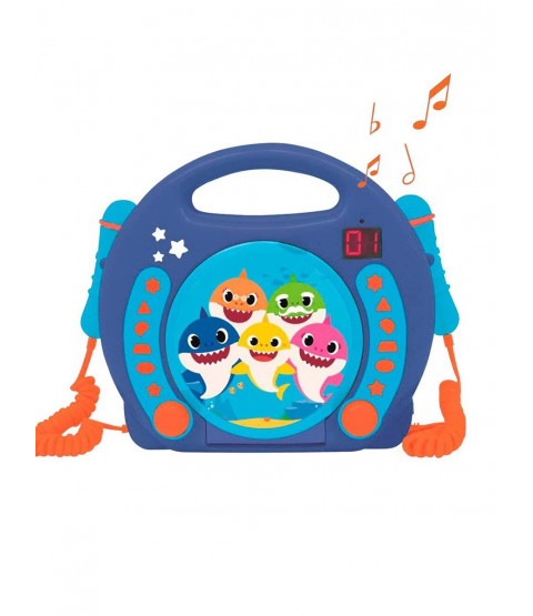 Baby Shark CD Player with Microphones