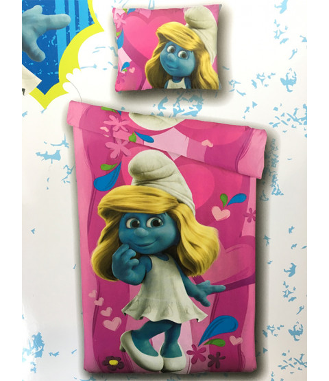 Smurfs Smurfette Single Duvet Cover and Pillowcase Set