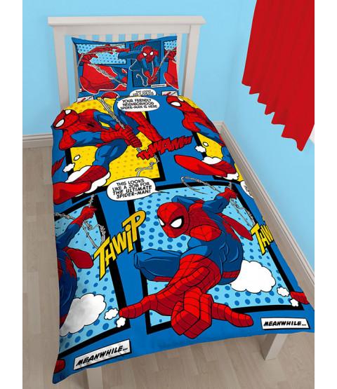 Juego de funda nórdica reversible Spiderman Webhead Single