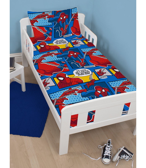 Spiderman Ultimate Webhead 4 in 1 Junior Rotary Bedding Bundle Set (Duvet + Pillow + Covers)