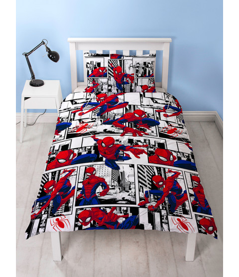 Spiderman $62.72 Ultimate Bedroom Makeover Kit Duvet Cover