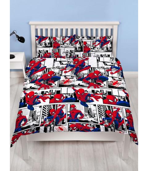 Spiderman Metropolis Double Duvet Cover and Pillowcase Set