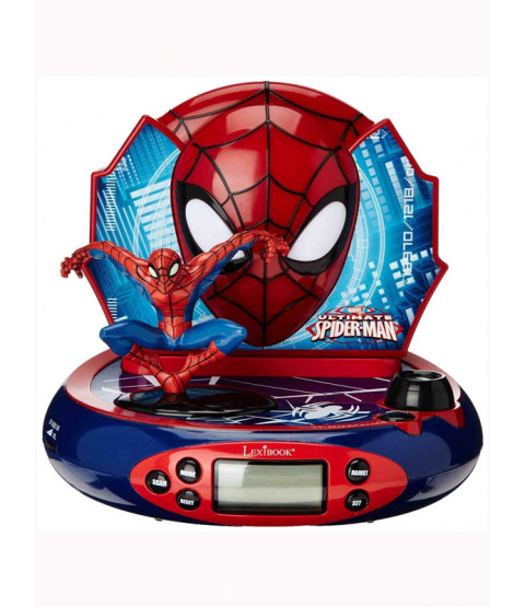 Spiderman Radio Alarm Clock Projector
