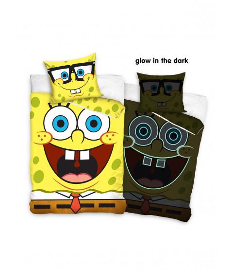Spongebob Glow in the Dark Single Duvet Cover and Pillowcase Set - European Size