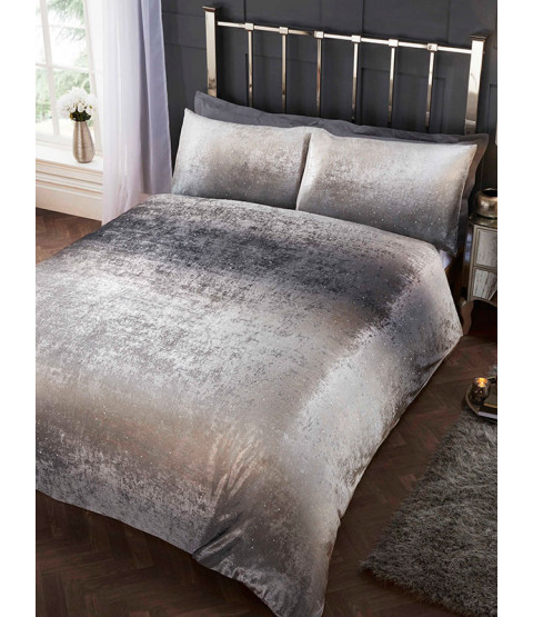 Stardust Silver Double Duvet Cover and Pillowcase Set