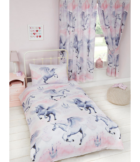 Stardust Unicorn Single Duvet Cover and Pillowcase Set Bedroom