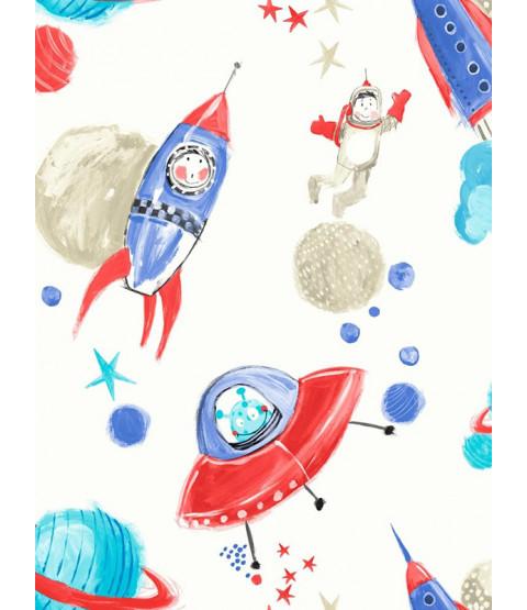 Starship Glitter Wallpaper - White - Arthouse 668001