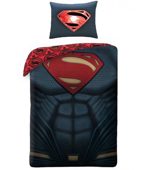 Juego de funda de almohada y funda de almohada individual Superman en el pecho