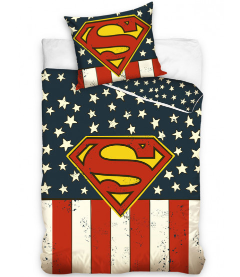 Superman USA Single Cotton Duvet Cover Set
