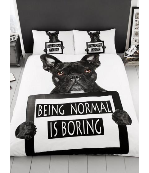 Juego de funda de almohada y funda de almohada individual Bulldog francés