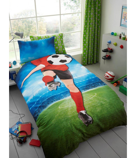 Footballer Selfie Single Duvet Cover and Pillowcase Set