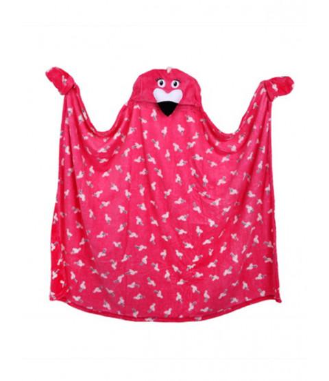 Flamingo Hooded Blanket Fleece