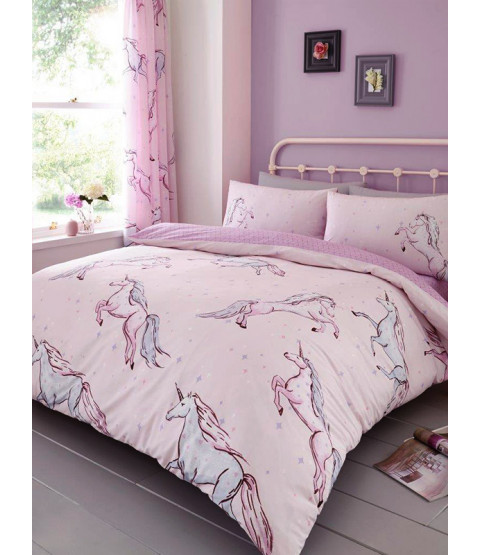 Star Unicorn King Size Duvet Cover and Pillowcase Set