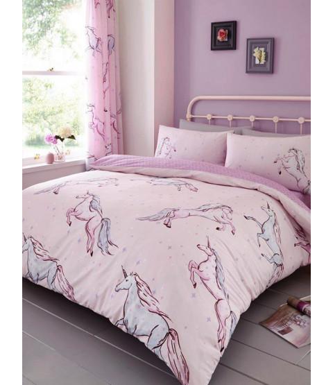 Star Unicorn Single Duvet Cover and Pillowcase Set