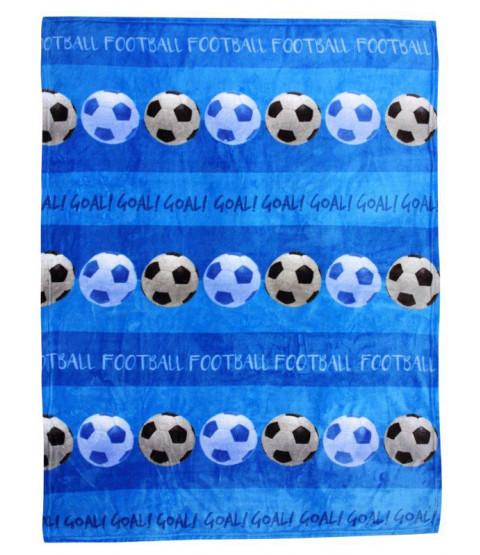 Football Fleece Blanket Throw - Blue