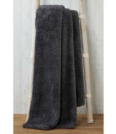 Snuggle Bedding Teddy Fleece Blanket Throw 150cm x 200cm - Charcoal