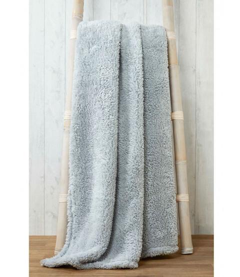 Snuggle Bedding Teddy Fleece Blanket Throw 150cm x 200cm - Sliver