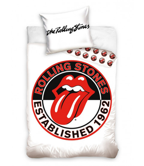 The Rolling Stones White Single Duvet Cover Set