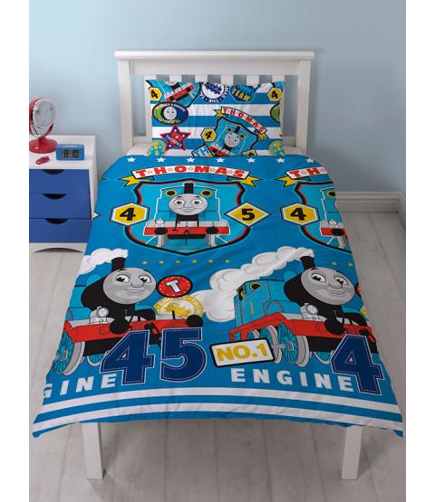 Thomas & Friends Patch Single Reversible Duvet Cover Set