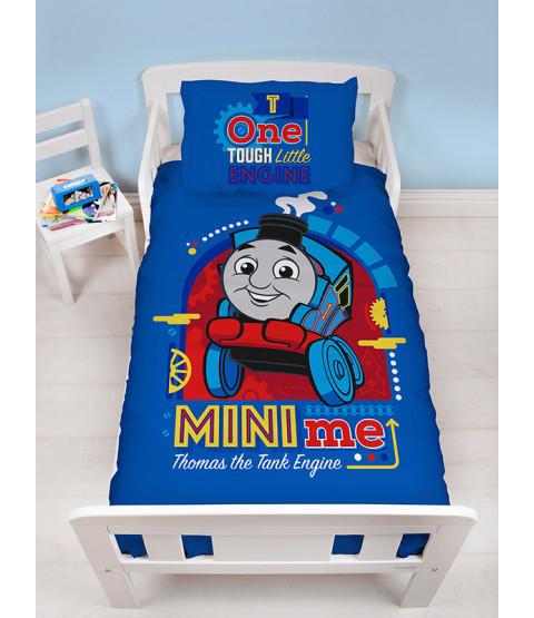 Thomas & Friends Minis 4 en 1 juego de ropa de cama para niños pequeños (edredón, almohada y fundas)