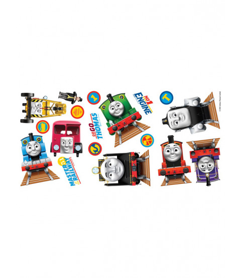 thomas and friends wall stickers 18 pieces thomas the tank engine wall sticker pack stickerscape uk