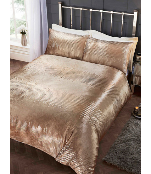 Tiffany Gold Double Duvet Cover and Pillowcase Set