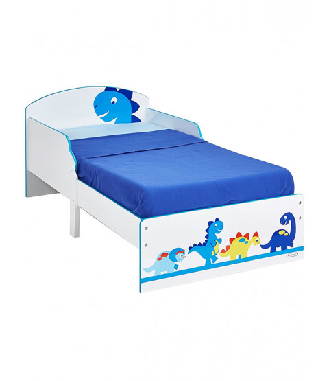 Dinosaurs Toddler Bed Plus Deluxe Foam Mattress