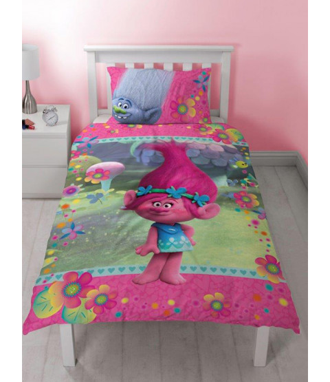 Trolls Quest Single Duvet Cover and Pillowcase Set