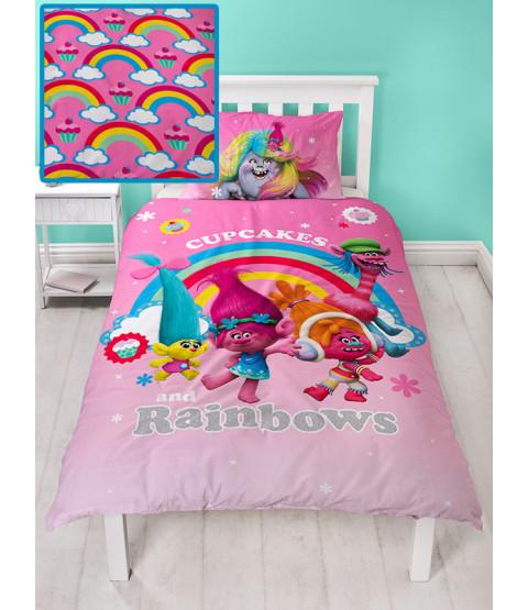 Trolls Dreams Single Duvet Cover and Pillowcase Set