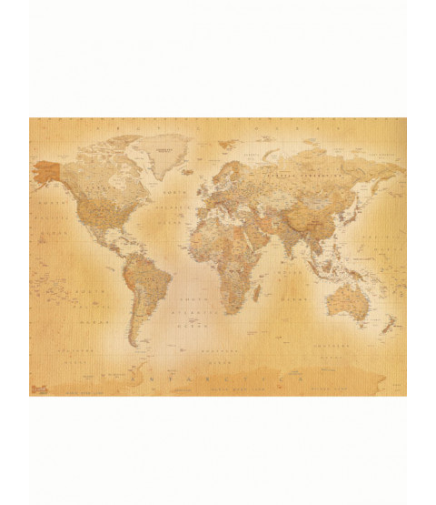 Vintage World Map Wall Mural 2.32m x 3.15m
