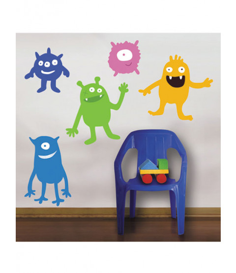 Wallies Peel & Stick Giant Murals - Monsters