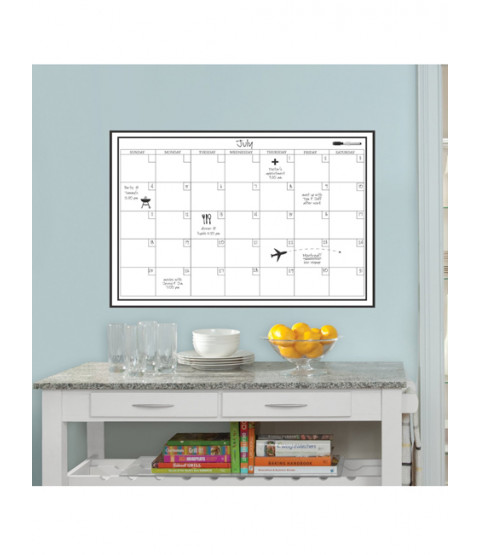 Wallpops Laminated Monthly Wall Calendar with Dry Erase Pen